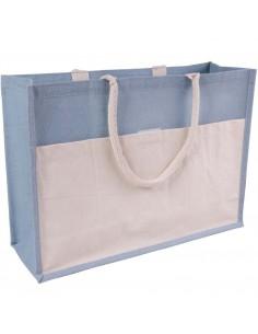 Duża torba z juty na zakupy kolorowa