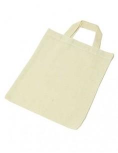 Mała torba bawełniana na zakupy naturalna