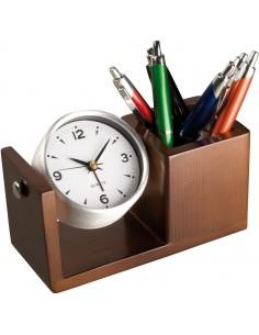 Zegar biurkowy, kolor brązowy