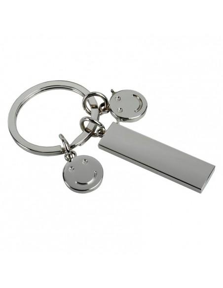 Metalowy brelok Flat, srebrny