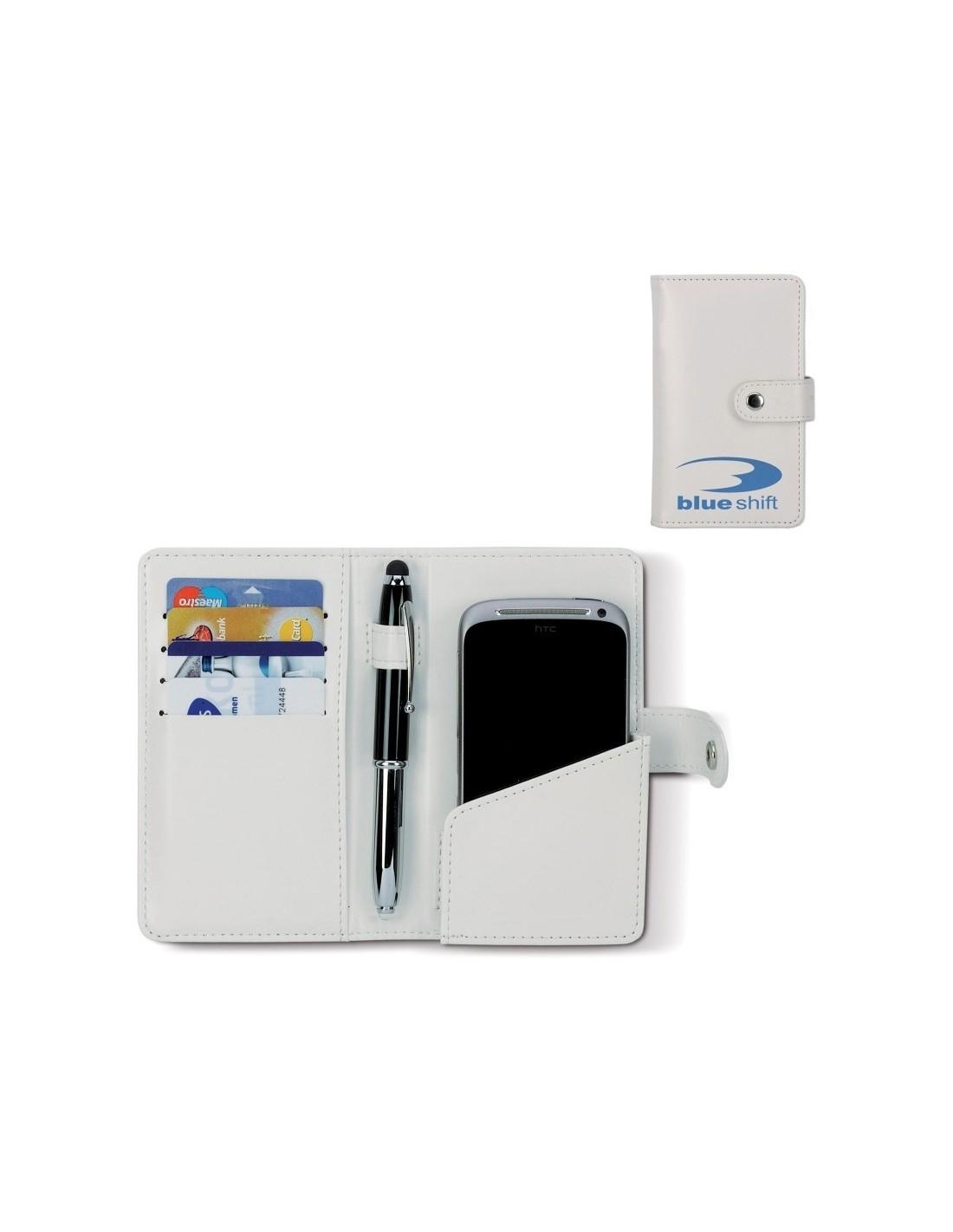 e63fd799e5543 Pokrowiec na smartfona z miejscem na karty z własnym nadrukiem