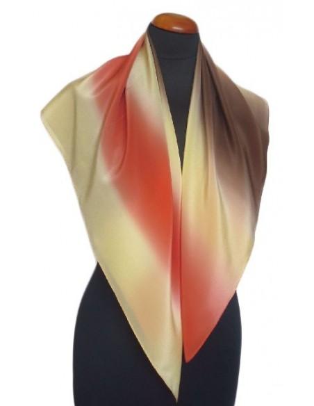 Apaszka Jedwab Polski  Milanówek  ręcznie cieniowana 90 x 90 cm