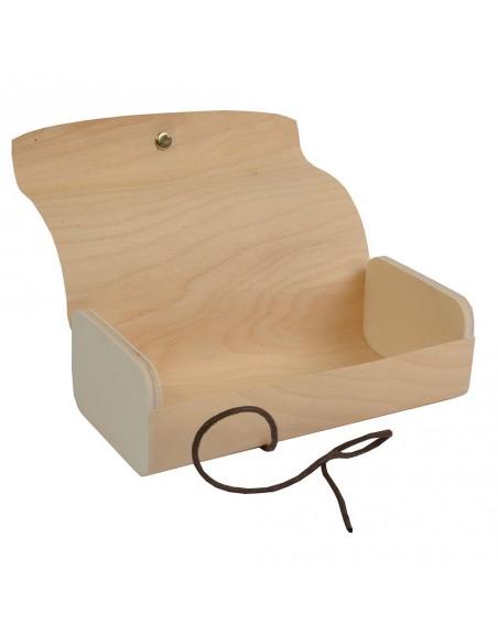 Drewiane pudełko na prezenty - średnie