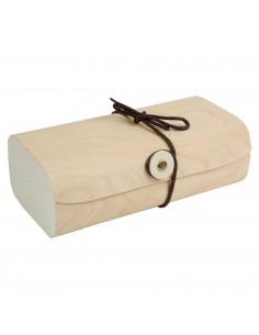 Drewiane pudełko na prezenty - małe