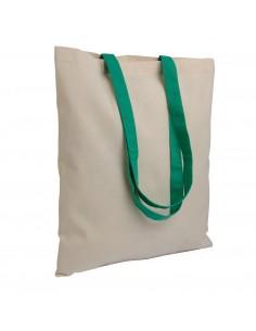 Torba bawełniana na zakupy z kolorowymi rączkami
