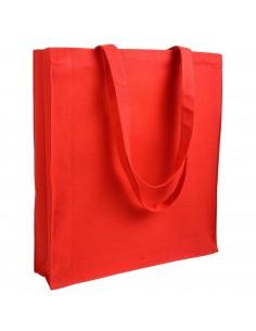 Toba bawełniana na zakupy z szerokim dnem 250 g/m2 kolorowa