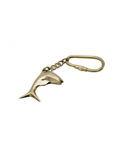 Breloczek mosiężny  Delfin
