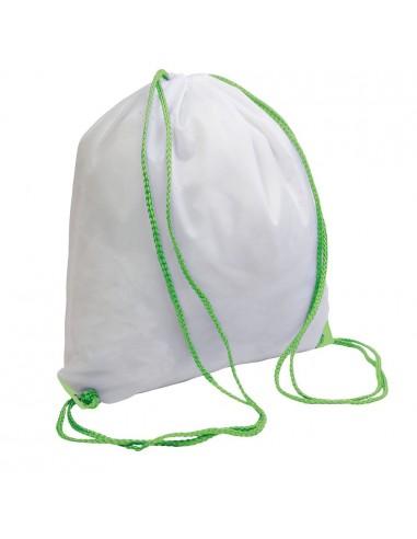 Worek gimnastyczny biały -kolorowe sznurki