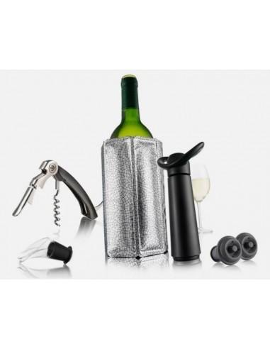 Zestaw do wina niezbędnik Czarny Vacu Vin