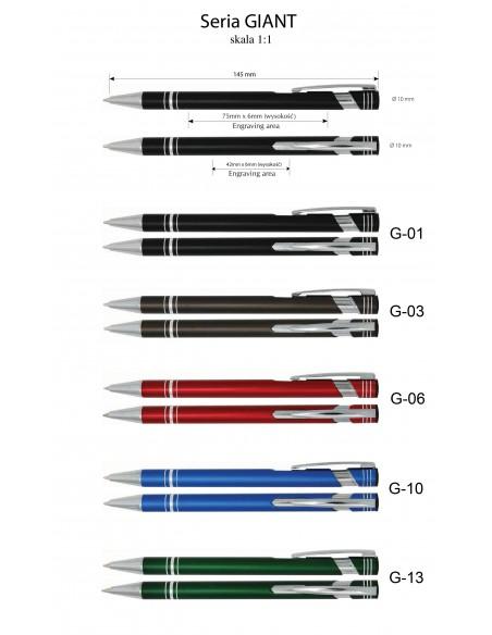Długopis aluminiowy  Giant