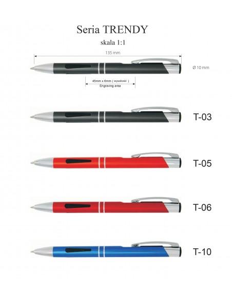 Długopis aluminiowy  Trendy