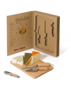 Zestaw 2 noży do sera  i korkociąg Toppoint