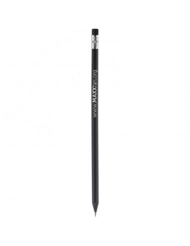 Czarny ołówek  z gumką
