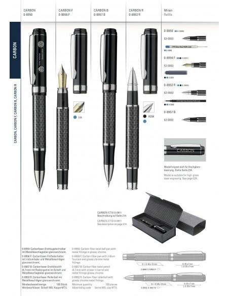 Długopis metalowy Uma Carbon