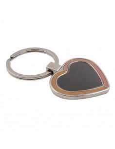 Brelok Brave Heart, czarny/srebrny