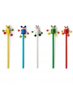 Ołówek  tygrys, biedronka, mysz, żaba i krowa