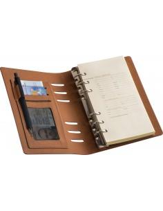 Teczka format A6 z segregatorem i notatnikiem