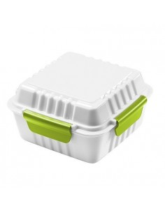 """Pojemnik na jedzenie """"Square"""", biało-zielony."""