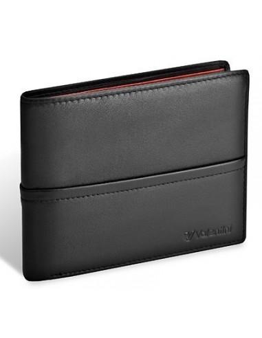 63b2d1e925315 Męski portfel Valentini Black   Red Diamond 154 267 z własnym nadrukiem