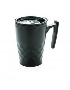 Geometryczny kubek do kawy 380 ml z uchwytem
