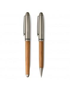 Zestaw piśmienny z drewna bambusowego