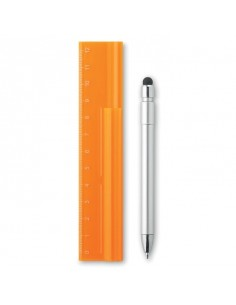 Linijka 12cm z długopisem Duotool