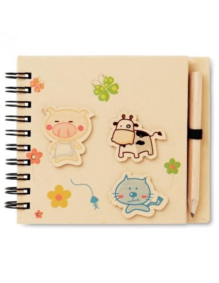 Notatnik dla dzieci z ołówkiem Piggy