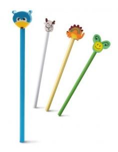 Ołówek z gumową lalką
