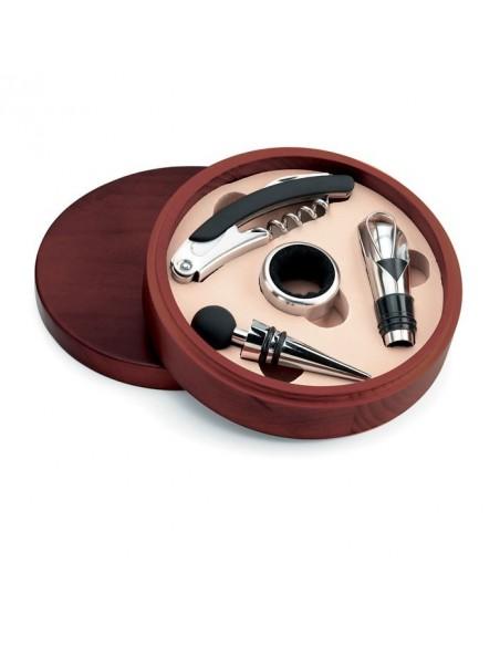 Zestaw do wina w drewnianym pudełku New Castel