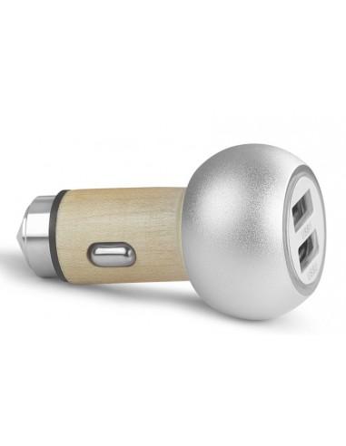 Ładowarka samochodowa USB wraz z młotkiem do szyb