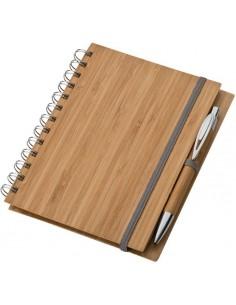 Notes z bambusową okładką A5