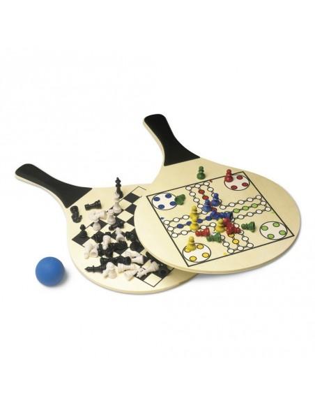 """Zestaw gier, gra plażowa tenis, """"Chińczyk"""" i szachy"""