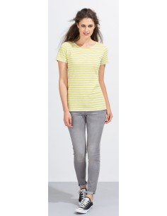 T-shirt  damski  Sol's Round Neck Striped Miles