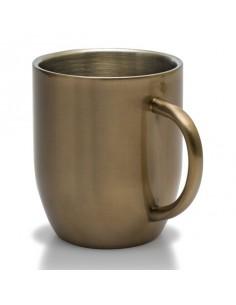 Kubek stalowy Dusk 380 ml, złoty