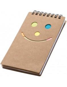 Notes z karteczkami do markowania, kolor brązowy