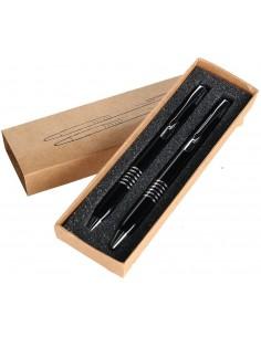 Aluminiowy zestaw piśmienny długopis ołówek-
