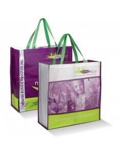 Torba na zakupy z nadrukiem full color z recyklingu 45 x 45 x 18 cm