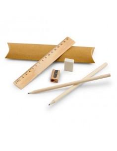 Zestaw do pisania linijka ołówek