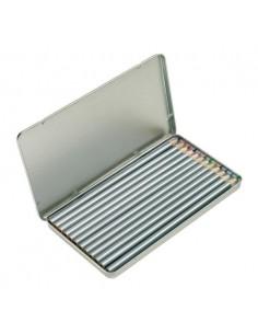 Zestaw kredek w metalowym pudełku