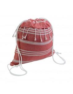 Worek plecak ściągany sznurkiem z frędzlami