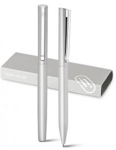 KLOS Zestaw: aluminiowe pióro kulkowe i długopis