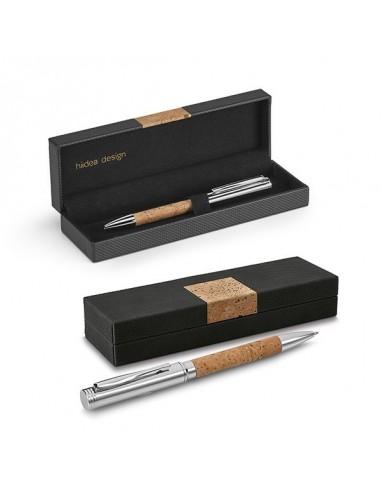 Długopis metalowy z korkiem Cork