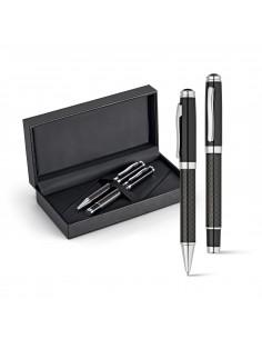 CHESS Zestaw, pióro kulkowe i długopis  włókno węglowe