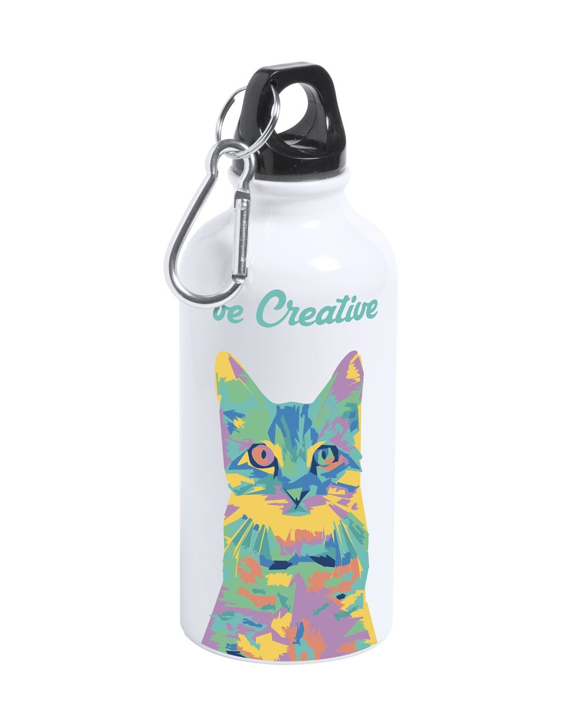 603cd649bfb Metalowa butelka sportowa z nadrukiem full color z własnym nadrukiem